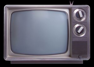 black-and-white TV