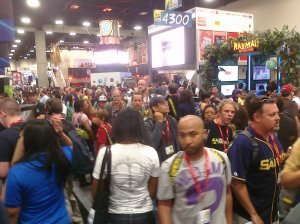 crowds at Comic Con
