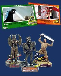 Arkoff Monster figurines / trading cards