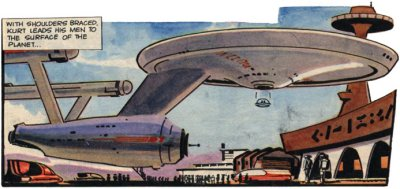 USS Enterprise also shows a previously unknown ability to land and stay upright without any visible means of support